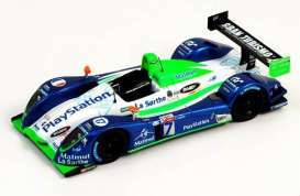 Pescarolo  - 2006 white/green/blue - 1:24 - Spark - LMS001 - spaLMS001 | Tom's Modelauto's