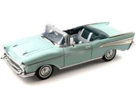 Chevrolet  - 1957 light green - 1:18 - Motor Max - 73175lgn - mmax73175lgn | Tom's Modelauto's