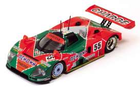 Mazda  - 1991 red/green - 1:43 - IXO Models - lm1991 - ixlm1991 | Tom's Modelauto's