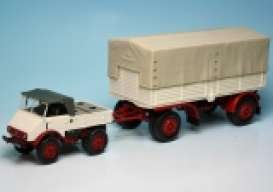 Unimog  - 1951 white/red - 1:43 - Minichamps - 499033920 - mc499033920 | Tom's Modelauto's