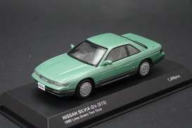 Nissan  - Silvia 1988 green - 1:43 - Kyosho - 3706gn - kyo3706gn | Tom's Modelauto's