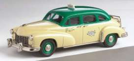Checker  - 1949 creme/green - 1:43 - Brooklin - brook89b | Tom's Modelauto's