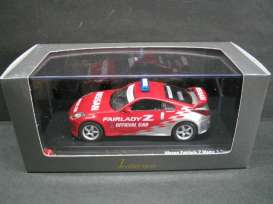 Nissan  - red/silver - 1:43 - J Collection - 13001pc - jc13001pc | Tom's Modelauto's