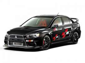 Mitsubishi  - Lancer Evolution X Ralliart 2007  - 1:24 - Aoshima - abk155441 | Tom's Modelauto's