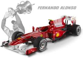 Ferrari  - F1 2010 F. Alonso 2010 red - 1:18 - Hotwheels Elite - mvT6257 - hwmvT6257 | Tom's Modelauto's