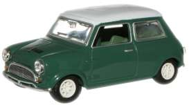 Mini  - 1970 green/white - 1:43 - Oxford Diecast - oxmin013 | Tom's Modelauto's