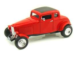 Ford  - 1932 red - 1:18 - Motor Max - 73171r - mmax73171r | Tom's Modelauto's