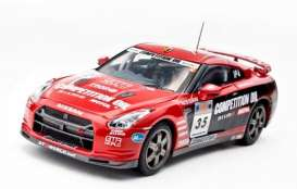 Nissan  - Nismo GT-R (R35) #35 2008 red/black - 1:43 - Kyosho - 3743A - kyo3743A | Tom's Modelauto's