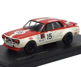 Nissan  - red/white - 1:43 - Kyosho - 3028C - kyo3028C | Toms Modelautos