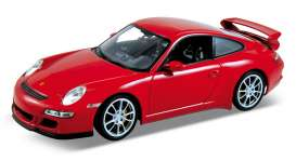 Porsche  - 2008 red - 1:18 - Welly - 18024r - welly18024r | Tom's Modelauto's