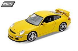 Porsche  - 2008 yellow - 1:18 - Welly - 18024y - welly18024y | Tom's Modelauto's
