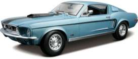 Maisto - Ford  - mai31167b : 1968 Ford Mustang GT Cobra jet, blue