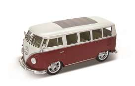 Volkswagen  - 1962 red/white - 1:24 - Welly - 22095LRr - welly22095LRr | Tom's Modelauto's