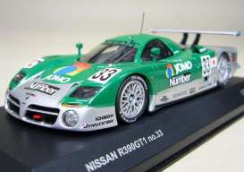 Nissan  - 1998 green/silver - 1:43 - Kyosho - 3421D - kyo3421D | Toms Modelautos