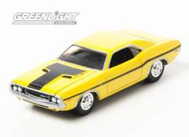 Dodge  - Challenger *NCIS* 1970 yellow - 1:64 - GreenLight - gl44620D | Tom's Modelauto's