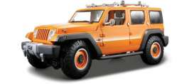 Jeep  - Wrangler orange - 1:18 - Maisto - 36699 - mai36699go | Toms Modelautos