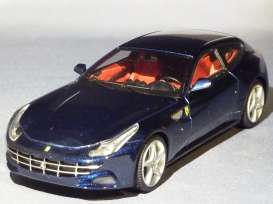 Hotwheels Elite - Ferrari  - hwmvW1189 : 2011 Ferrari FF four-seater GT with a V12 Cylinder front engine, blue america
