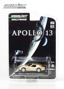 Chevrolet Corvette - 1970 gold - 1:64 - GreenLight - 44630B - gl44630B | Tom's Modelauto's