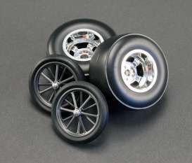 Rims & tires Wheels & tires - chrome - 1:18 - Acme Diecast - acme1800102 | Tom's Modelauto's