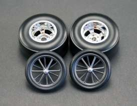 Rims & tires Wheels & tires - chrome - 1:18 - Acme Diecast - acme1800102 | Toms Modelautos