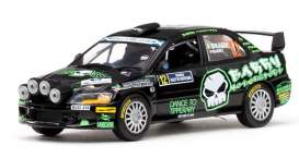 Mitsubishi  - Lancer EVO IX #12  2010 black/bright green - 1:43 - Vitesse SunStar - 43418 - vss43418 | Toms Modelautos