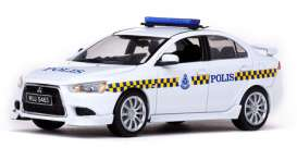 Mitsubishi  - Lancer  2010 white/yellow/blue - 1:43 - Vitesse SunStar - 29313 - vss29313 | Tom's Modelauto's