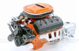 Engine  - orange/chrome - 1:18 - Acme Diecast - gmpg1800154 | Tom's Modelauto's