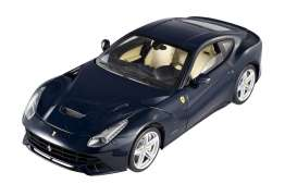 Hotwheels Elite - Ferrari  - hwmvx5476 : New 2012 Ferrari F12 Berlinetta, dark elegant blue with creme interior.