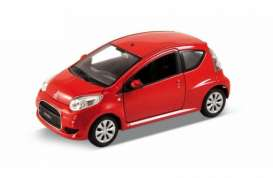 Citroen  - 2010 red - 1:24 - Welly - 24010r - welly24010r | Tom's Modelauto's