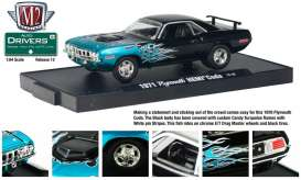 Plymouth  - 1971 black/blue - 1:64 - M2 Machines - 11228-12-6 - M2-11228-12-6 | Tom's Modelauto's