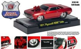 Plymouth  - 1971 candy red - 1:64 - M2 Machines - 81161-8-1 - M2-81161-8-1 | Tom's Modelauto's