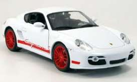 Porsche  - 2006 white/red - 1:18 - Welly - 18008w - welly18008w | Tom's Modelauto's