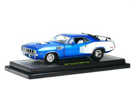 Plymouth  - 1971 blue/white - 1:24 - M2 Machines - 40200-24A - M2-40200-24A | Tom's Modelauto's