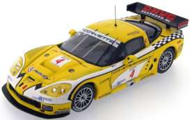 Corvette  - 2006 yellow/white - 1:43 - IXO Models - gtm059 - ixgtm059 | Tom's Modelauto's