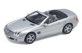 Mercedes Benz  - 2000 silver - 1:24 - Welly - 22437s - welly22437s | Toms Modelautos