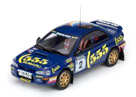 Subaru  - 1994 blue/yellow - 1:18 - SunStar - 5502 - sun5502 | Toms Modelautos