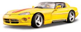 Dodge  - yellow - 1:18 - Bburago - 12024y - bura12024y | Toms Modelautos