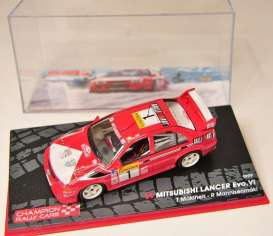 Mitsubishi  - Lancer EVO VI #1 1999 red/white - 1:43 - Magazine Models - MagRAlancer1999 | Tom's Modelauto's