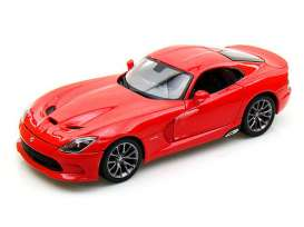 Dodge  - Viper 2013 red - 1:18 - Maisto - 31128r - mai31128r | Tom's Modelauto's