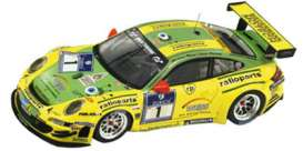 Porsche  - 2009 yellow/green - 1:18 - Spark - 18S058 - spa18S058 | Tom's Modelauto's