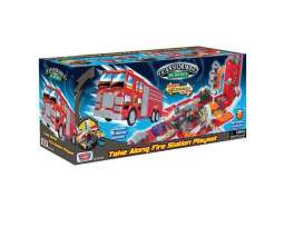 Motormax Toys - Kids  - mmax78114B : 19 inch Take along Fire Station playset. Open the truck and it transforms into a great playset.