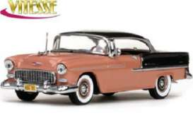 Chevrolet  - 1955 shadow grey/coral - 1:43 - Vitesse SunStar - 36321 - vss36321 | Toms Modelautos