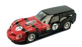 Ferrari  - 1962 red/black - 1:43 - Fujimi Resin Collection - FRC1343018 | Toms Modelautos