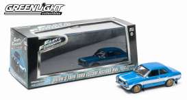 Ford  - Escort F&F 2013 blue/white - 1:43 - GreenLight - 86222 - gl86222 | Tom's Modelauto's