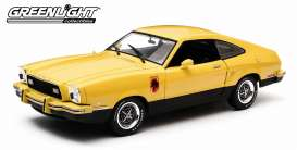 GreenLight - Ford  - gl12889 : 1976 Ford Mustang II Stallion, yellow/black
