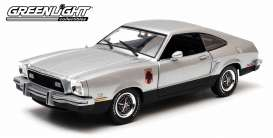 GreenLight - Ford  - gl12890 : 1976 Ford Mustang II Stallion, silver/black