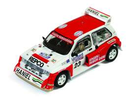 IXO Models - MG  - ixrac116 : 1986 MG Metro 6R4 #23 Teesdale/Horne RAC Rally, red/white