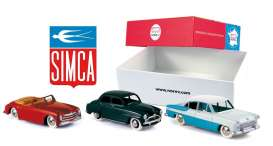 Norev - Simca  - norc80906 : Set with 3 models From 80th Anniversary Simca. 8 sport, Aronde and Vedette