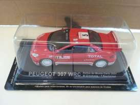 Peugeot  - 2004 red - 1:43 - Magazine Models - MagRA307 | Tom's Modelauto's
