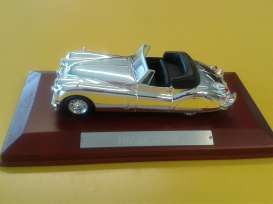 Jaguar  - XK140 1954 chrome - 1:43 - Magazine Models - magCHRxk140 | Tom's Modelauto's